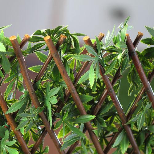 Jardin Artificiel Treillis extensible en bois de saule feuillage