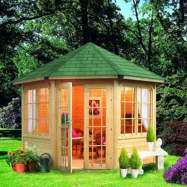 Kiosque Pavillon Octogonal Bois Diam. 4,17m Achat / Vente kiosque