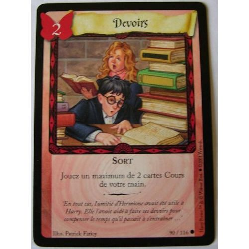 Carte Harry Potter Devoirs 90/116 neuf et d'occasion