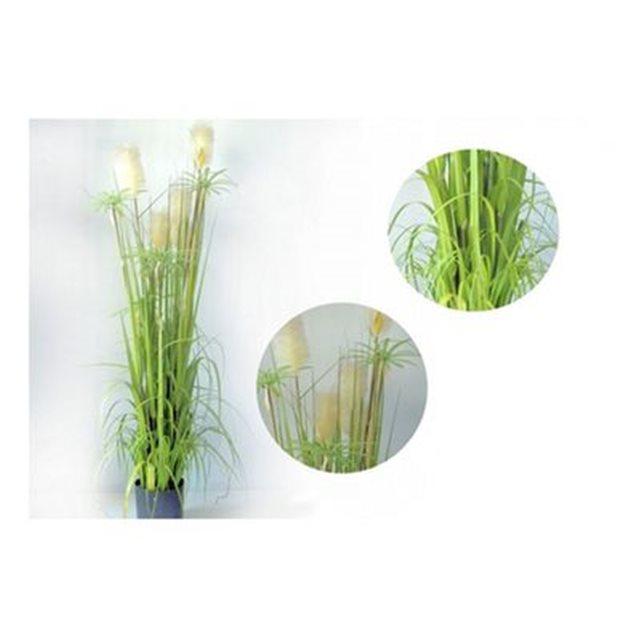 Plante artificielle jonc artificiel avec fleurs hauteur 150cm
