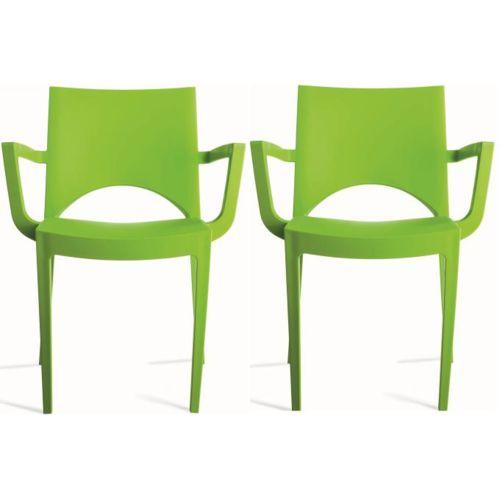 Lot de 2 chaises design vertes Palermo Vendu par lot de Lot de