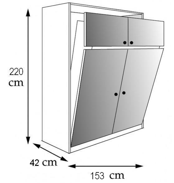 Armoire lit escamotable CAMPUS JACQUELIN Couchage 140cm