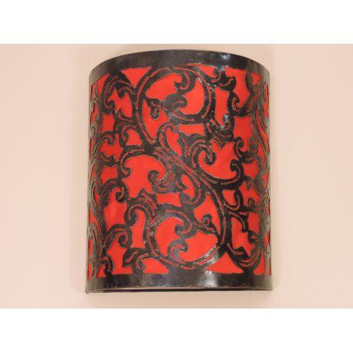 Bonareva Applique en fer forgé rouge arabesque 30 cm pas cher