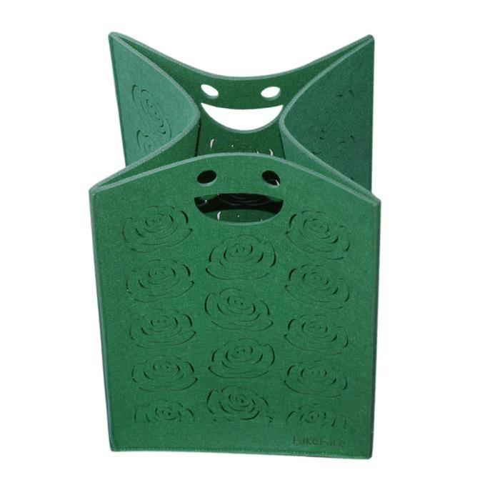 Boîte de Rangement Paniers à Linge Sac Trousse Stockage en Feutre