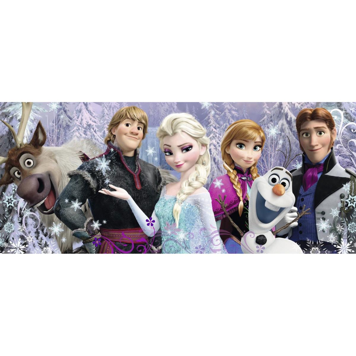 Puzzle Panoramique 200 pièces XXL : La Reine des Neiges (Frozen