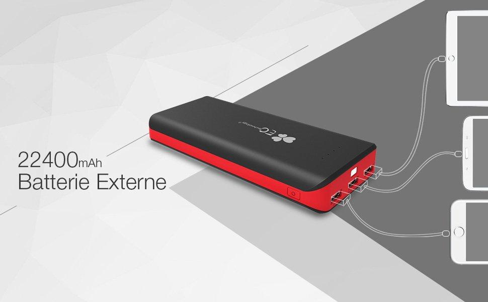 Incroyablement puissant Batterie externe power bank 22400mAh 2ème