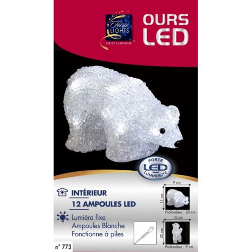 Feerrie Lights Ours CouchÉ Lumineux 12 Led Blanc pas cher Achat