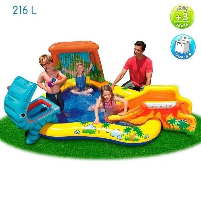 INTEX Piscine gonflable Enfant / Aire De Jeux aquatique Dinosaure 249