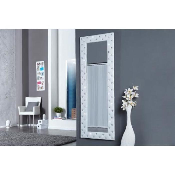 Miroir design Stariss blanc Achat / Vente miroir Tissu, acrylique