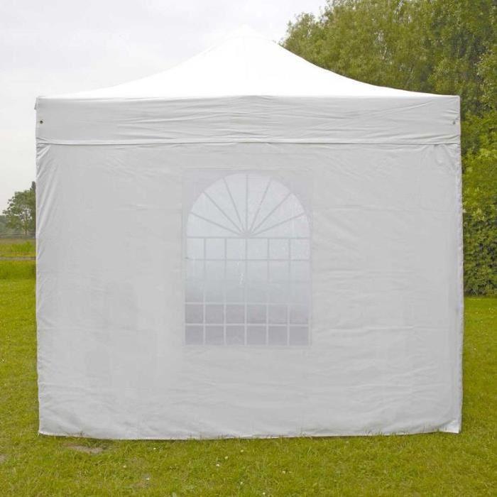 tente pliante PRO 40MM 4m blanc Mur fenêtre tente pliante PRO