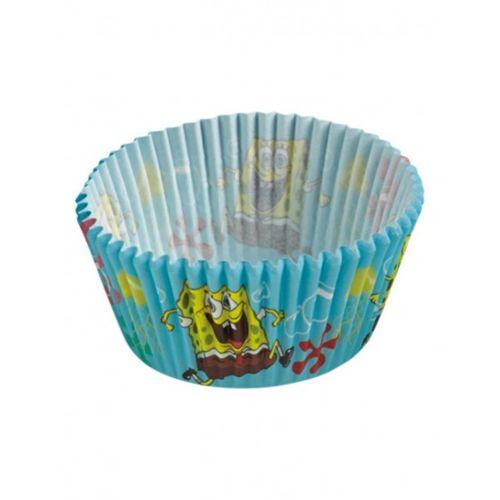 Bob l´éponge Caissettes à cupcakes Bob l'éponge x48 pas cher