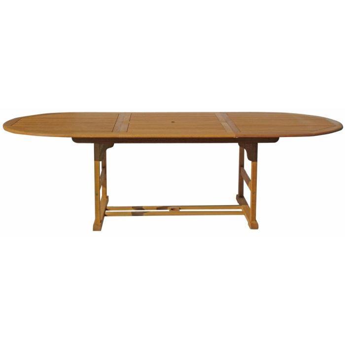 table à manger Table ovale avec rallonge centrale pour 6/8 conviv