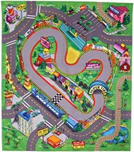 Tapis de jeu 80×70 cm Le circuit de course: Jeux et