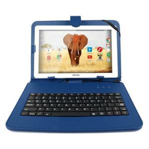 CLAVIER POUR TABLETTE Etui bleu + clavier QWERTY pour tablettes Archos
