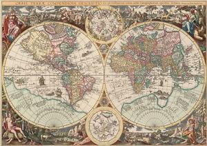 Puzzle 1500 pièces Carte du Monde (50203)