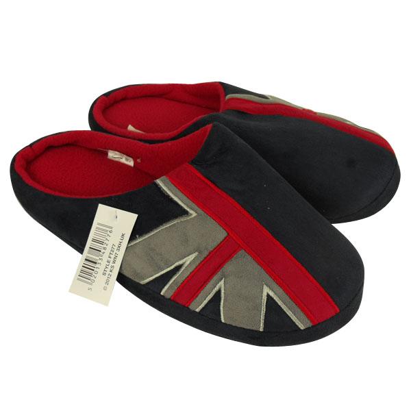 Hommes Union Jack Pantoufles Classiques nouveauté Chaussons Mules UK