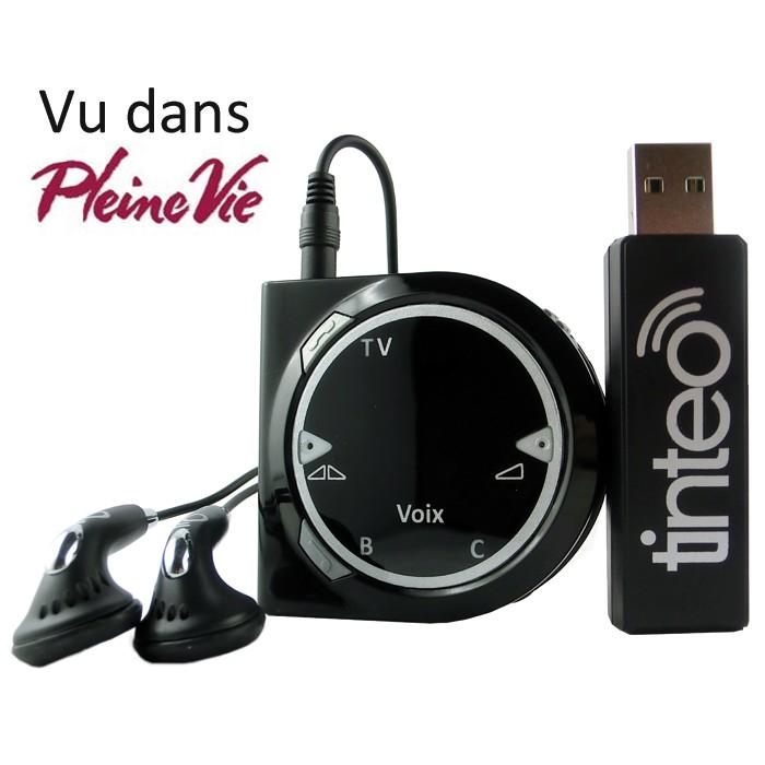 Casque TV sans fil et Amplificateur d'écoute intelligent Tinteo Duo