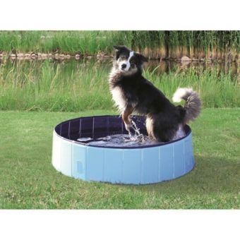 Trixie Piscine 120x30cm Bleu clair et bleu Pour chien pas cher