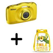 NIKON COOLPIX S33 Jaune Appareil photo compact