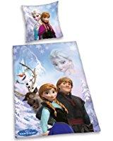 Disney Frozen housse de couette 135 x 200 cm et taie d'oreiller 80 x