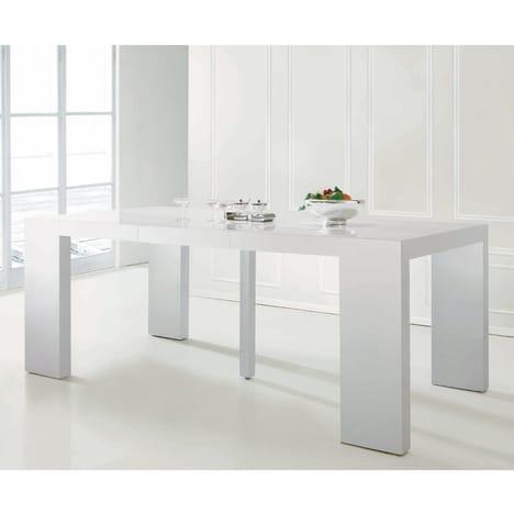 menzzo table console nassau table console extensible 3 rallonges 50 à