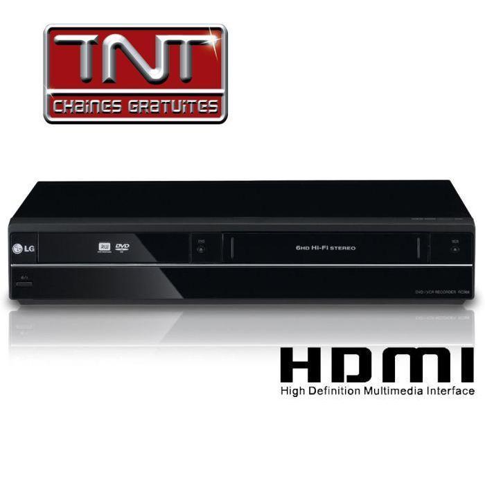 LG RCT689H Graveur DVD lecteur VHS combi vhs dvd, prix pas cher