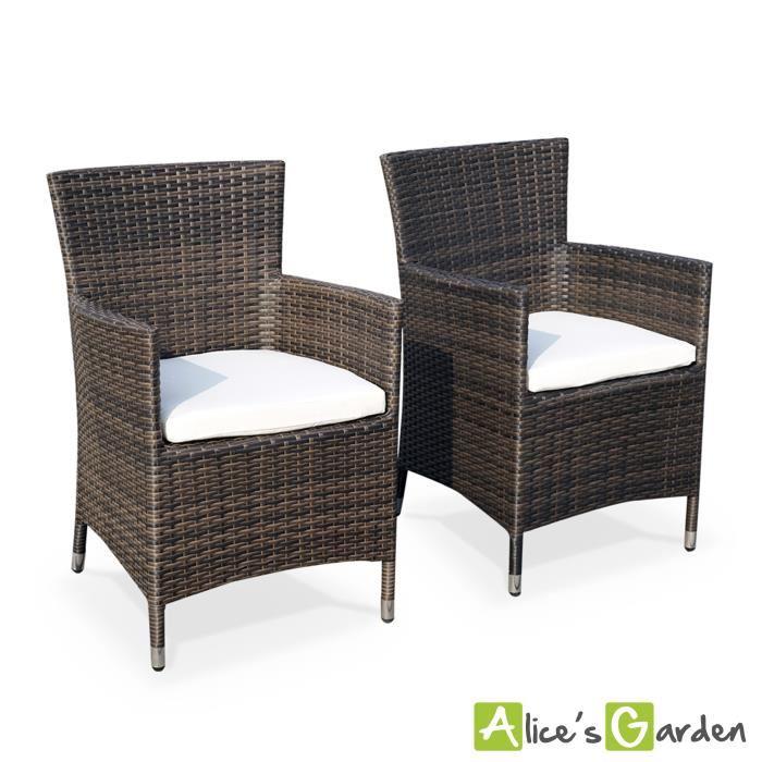 Vente chaise fauteuil jardin 2 fauteuils résine Palermo