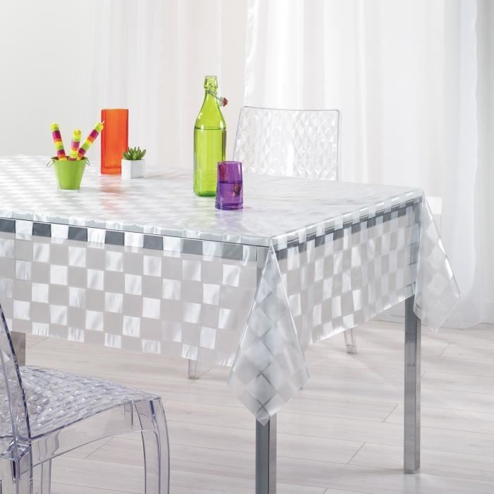 nappe pvc mosaique transparent rectangle 140x240cm Achat / Vente