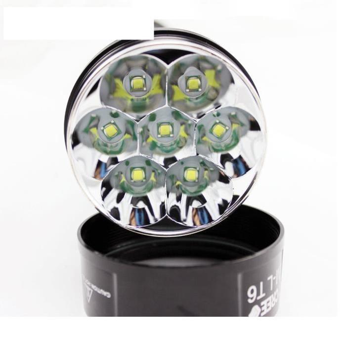 LAMPE TORCHE PUISSANTE LED CREE 8000 LUMENS 7 xT6