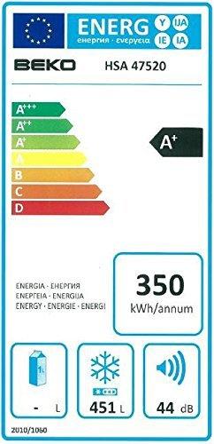 Beko HSA 47520 Congélateur A+ Blanc: Gros électroménager