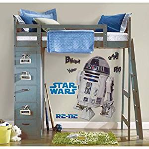 RoomMates 539102 Star Wars R2D2 Autocollant Géant Repositionnable