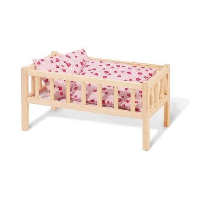 Lit de poupée Andrea avec textile inclus Superbe lit Andrea pour