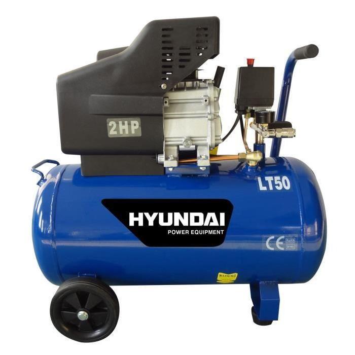 HYUNDAI Compresseur 50L 2cv Achat / Vente compresseur Acier