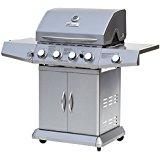 Grill barbecue à gaz en acier inoxydable 4 + 1 adapté à l