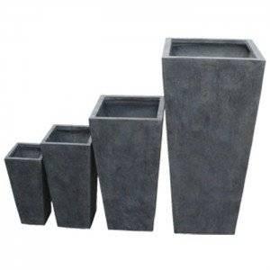 Pots à plantes de jardin design Arcachon (X4) Couleur Gris