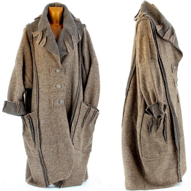 grossiste 04a03 b4e2c Manteau grande taille - TopiWall