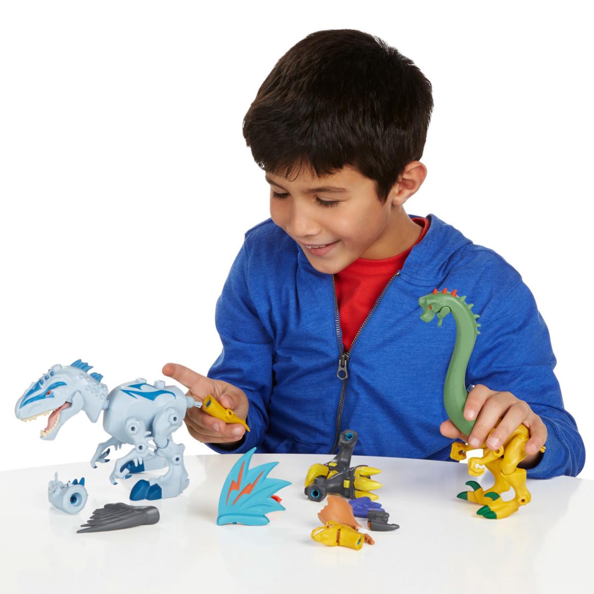 Figurine Jurassic World : Hero Mashers : Indominus Rex vs