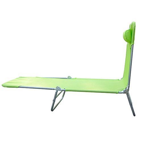 Homcom Chaise longue pliante bain de soleil inclinable transat