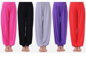 Boho Femme Pantalon Large Pantalon Lâche Oriental Danse Aladin Sport