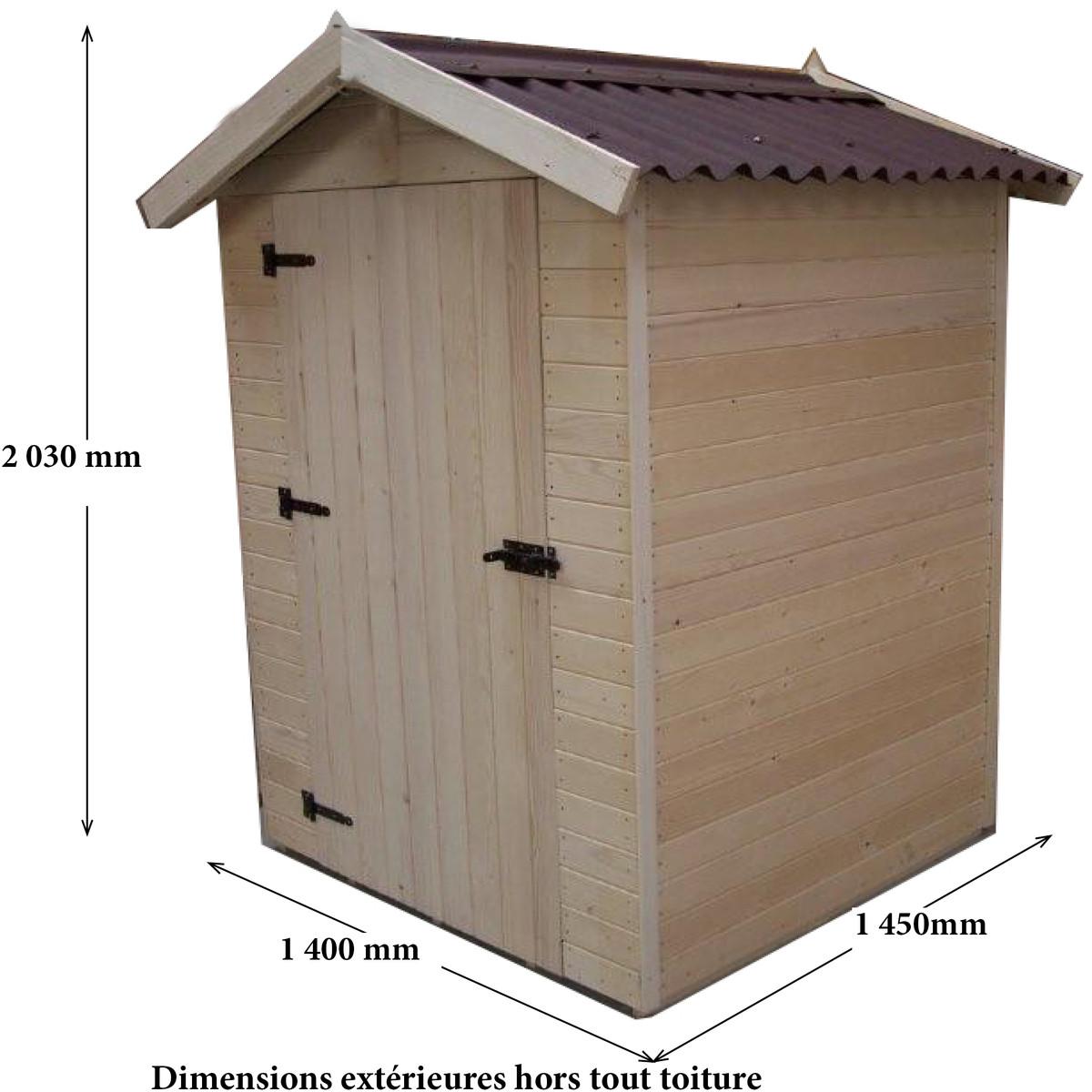 abri de jardin chalet et jardin Abri de jardin bois EDEN1 - 1,36m² Chalet de jardin bois 16mm à prix