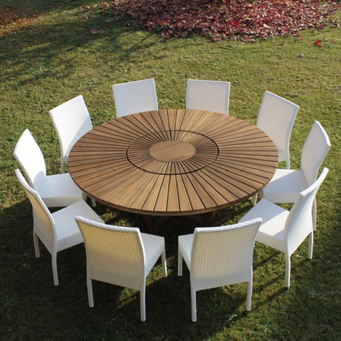 en bois de teck Real Table. Achat / Vente table de jardin Table de