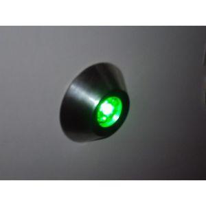 Mini Spot LED 1W Verte Forme Rond Fixe Semi Encastré Ibou Trajectoire