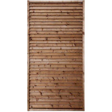 Panneau bois persienné Vera, l.90 cm x h.180 cm, marron | Leroy