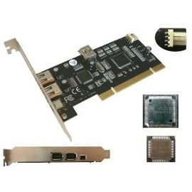 Carte controleur PCI Firewire 400 Double Chipset TI