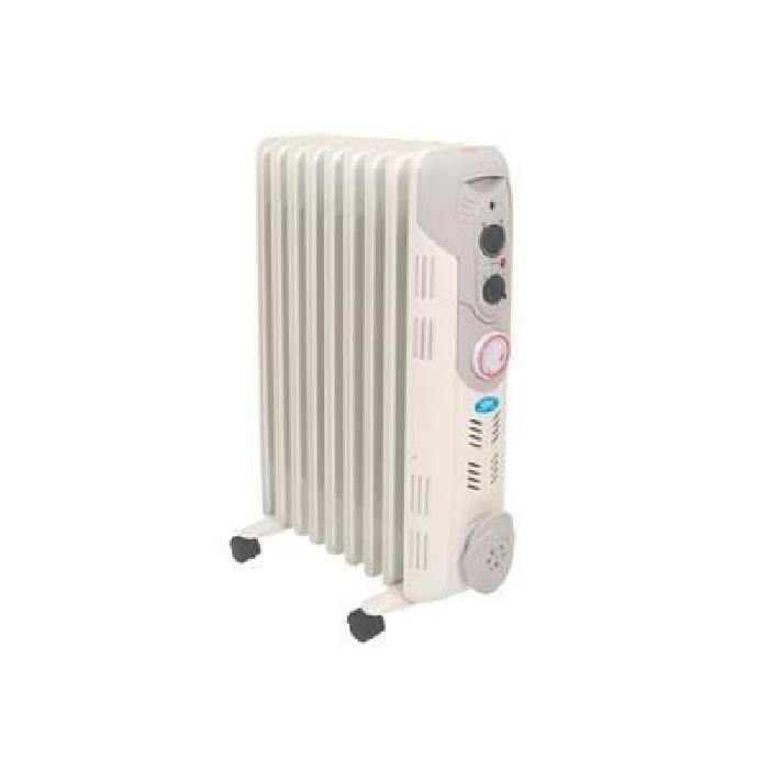 Radiateur à Bain d'Huile 2 kW 9 Eléments avec Programmateur 24