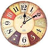 Soledi Horloge Pendule Murale Style Vintage Horloge avec Chiffres en
