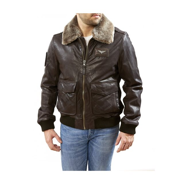 Blouson aviateur, alpha 2 collector marron Redskins