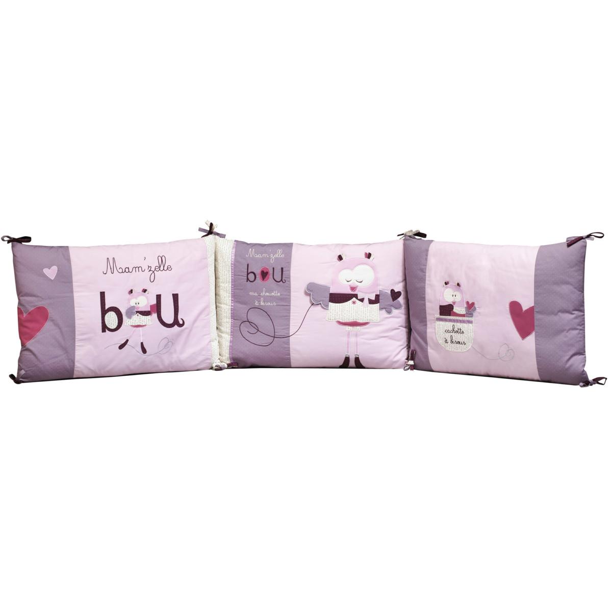 Bou tour de lit Violet de Sauthon Baby Déco, Tours de lit : Aubert