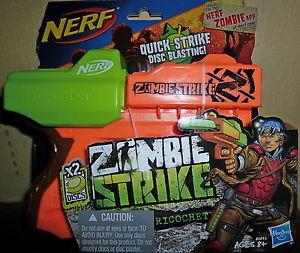Nerf zombie strike ricochet disc blaster!!! afficher le