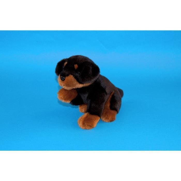 Chien Rottweiler Assis de 26cm (RB952) Achat / Vente peluche Peluche